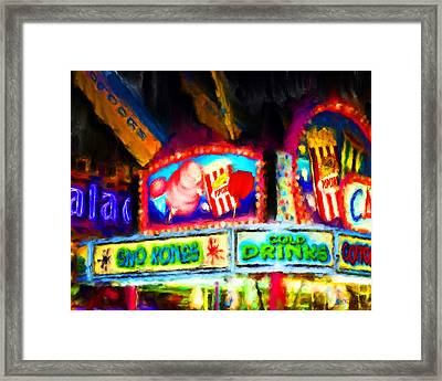 Concession Stand Framed Print by Fred Baird