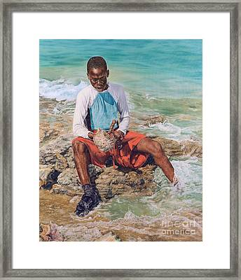 Conch Boy II Framed Print