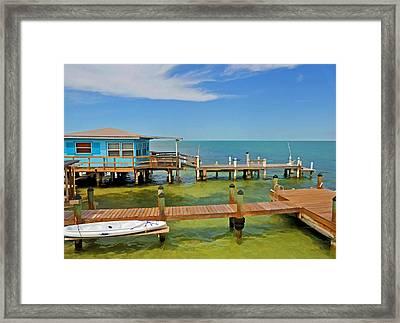 Conch Key Blue Cottage 3 Framed Print