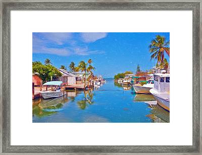 Conch Key Waterfront Living 3 Framed Print