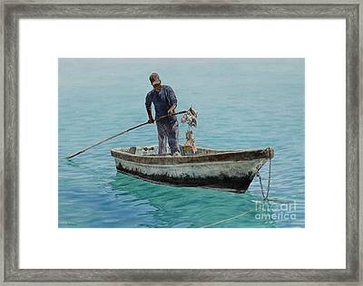 Conch Pearl Framed Print