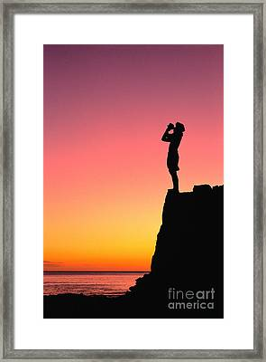 Conch Shell Blower Framed Print by William Waterfall - Printscapes