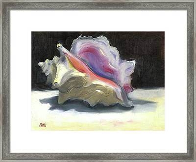 Conch Shell Framed Print by Susan Thomas