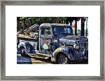 Conch Truck Framed Print by Joetta West