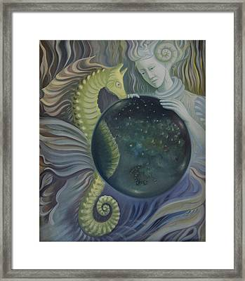 Conch Woman Framed Print
