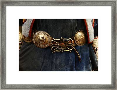 Concho Belt Framed Print