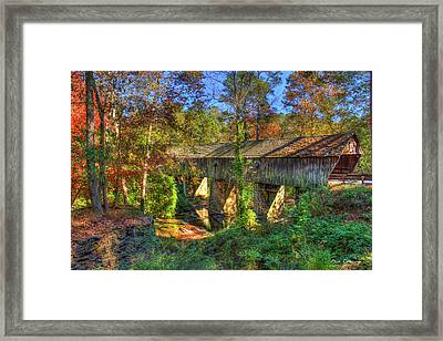 Concord Covered Bridge Nickajack Creek Art Framed Print