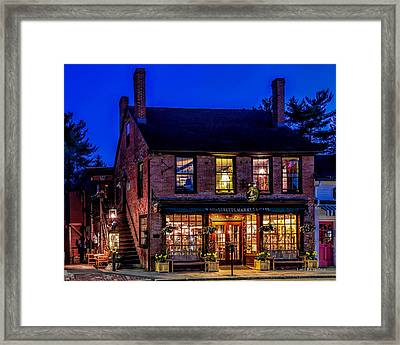Concord Market And Cafe Framed Print by Larry Richardson