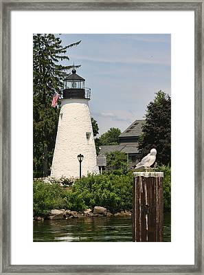 Concord Point Lighthouse Framed Print by Christina Durity