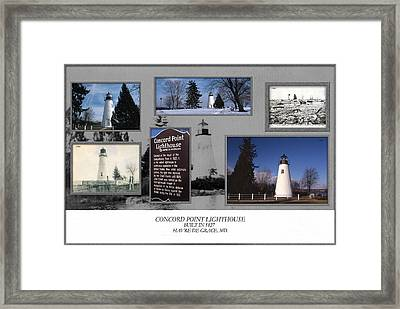 Concord Point Lighthouse Collage Framed Print
