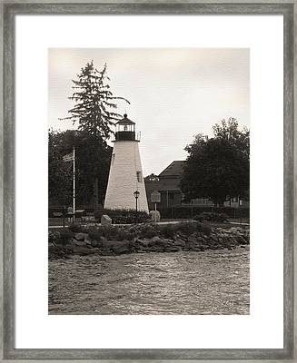 Concord Point Lighthouse Framed Print by Gordon Beck
