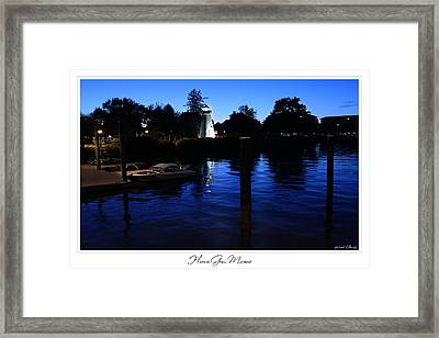 Concord Point Lighthouse Havre De Grace Prints For Sale Framed Print by Michael Grubb