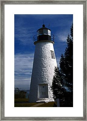 Concord Point Lighthouse Md Framed Print by Skip Willits