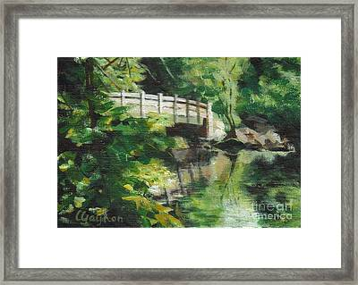 Concord River Bridge Framed Print