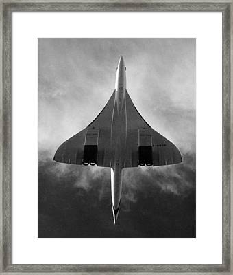 Concorde During A Test Flight Framed Print