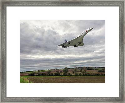 Concorde - High Speed Pass Framed Print by Paul Gulliver