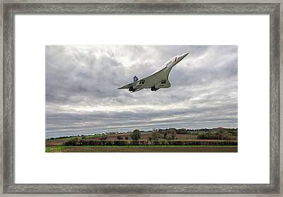 Concorde - High Speed Pass_2 Framed Print by Paul Gulliver