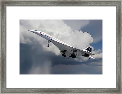 Concorde London Heathrow Framed Print
