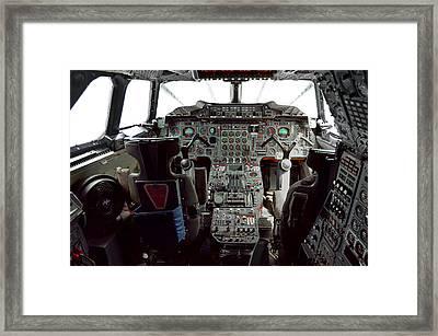 Concorde Supersonic  Passenger Jet Cockpit Framed Print by Daniel Hagerman