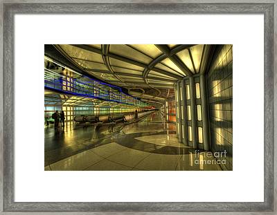 Concourse Pedway Framed Print by David Bearden