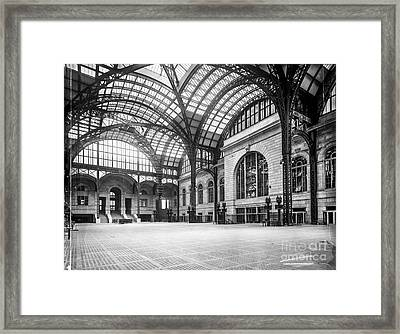 Concourse Pennsylvania Station New York Framed Print by Russ Brown