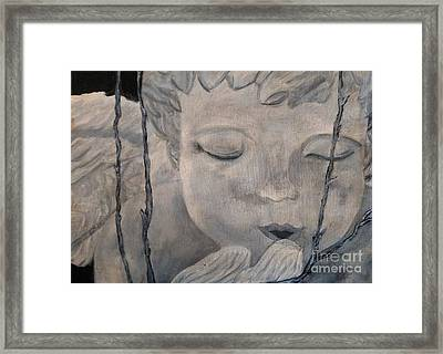 Concret Angel Framed Print by Lori Jacobus-Crawford