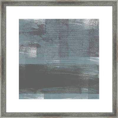 Concrete 1- Contemporary Abstract Art By Linda Woods Framed Print by Linda Woods