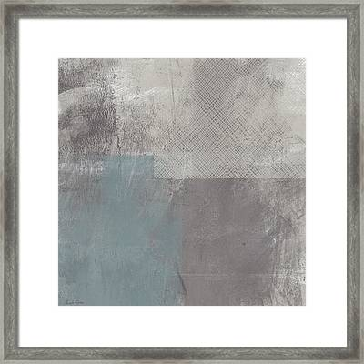 Concrete 3- Contemporary Abstract Art By Linda Woods Framed Print by Linda Woods