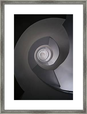 Framed Print featuring the photograph Concrete Abstract Spiral Staircase by Jaroslaw Blaminsky