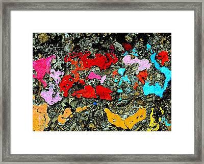 Concrete Abstraction Framed Print by Stephen Dorsett