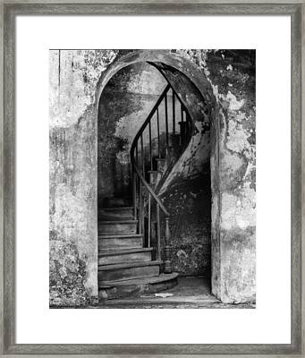 Concrete And Stairwell Framed Print