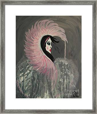 Concrete Angel Framed Print by LKB Art and Photography