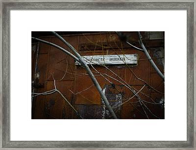 Concrete Bunker Framed Print by Misty Tienken