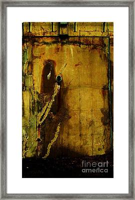 Concrete Canvas Framed Print by Reb Frost