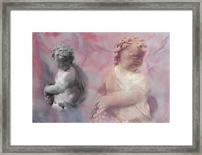 Framed Print featuring the photograph Concrete Cherubs by Toni Hopper