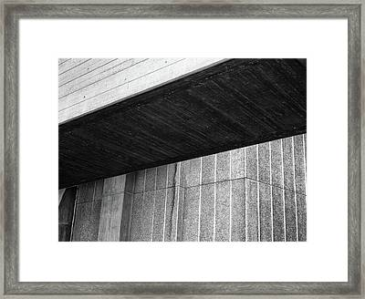 Concrete Detail - National Theatre London  Framed Print