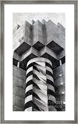 Concrete Geometry Framed Print