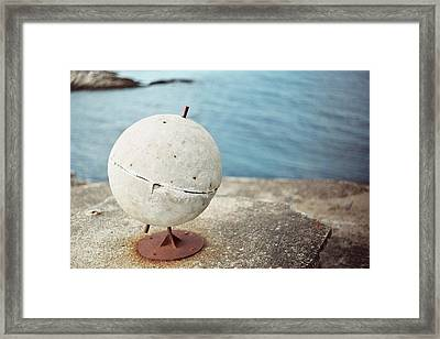 Concrete Globe Framed Print by Gregory Barger