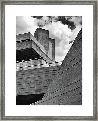 Concrete Landscape - Royal National Theatre Framed Print