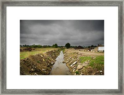 Concrete River 2 Framed Print by Matthew Angelo