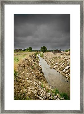 Concrete River 4 Framed Print by Matthew Angelo