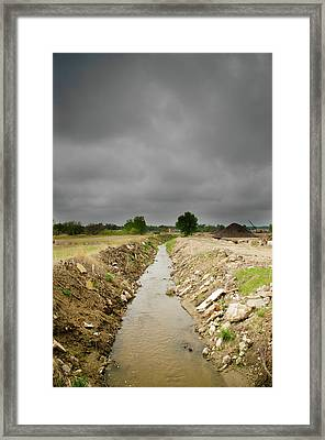 Concrete River Framed Print by Matthew Angelo