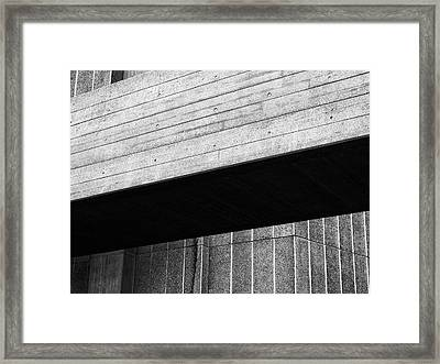 Concrete Span - National Theatre London  Framed Print