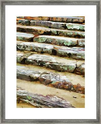 Concrete Steps Framed Print by Lanjee Chee