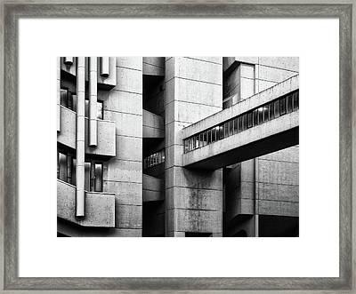 Concrete Walkway Framed Print