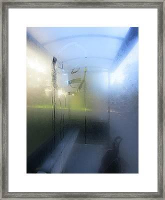 Condensation In Blue Framed Print