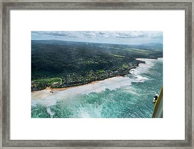 Condition Black - Rockpile To Waimea Framed Print by Sean Davey