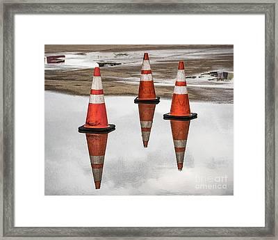 Cone Clouds Framed Print