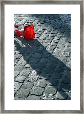 Coned Fallen Framed Print by Jez C Self