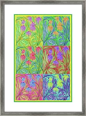 Coneflower Pop By Jrr Framed Print by First Star Art